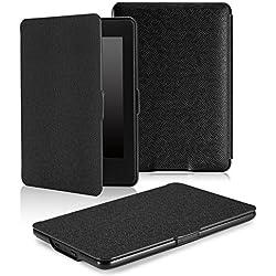 MoKo Kindle Paperwhite Funda - Ultra Slim Ligera Smart Shell Case Cover con Auto Estela / Sueño para Amazon All-New Kindle Paperwhite ( Ambos 2012, 2013, 2015 y 2016 Versións ), Negro