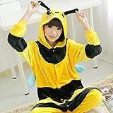 CWJ Unisex Adult Pyjamas - Plüsch One Piece Cosplay Tier Kostüm Winter Verdickung Freizeitbekleidung,Bienen,XL
