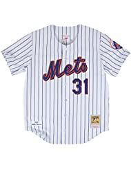 Mike Piazza New York Mets Mitchell & Ness Authentic MLB 2000 Button Up Jersey Maillot