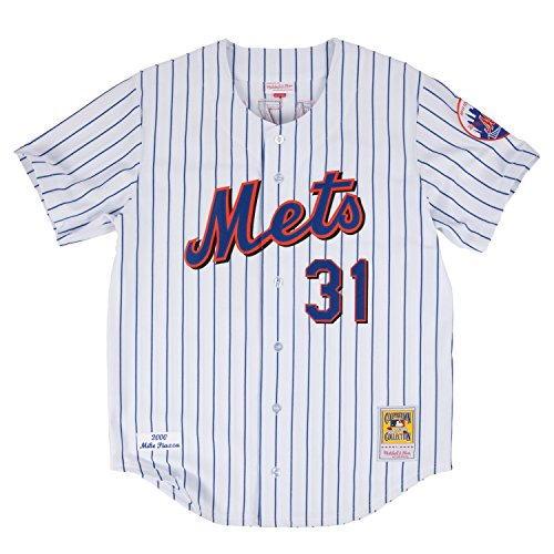 mike-piazza-new-york-mets-mitchell-ness-authentic-mlb-2000-button-up-jersey-maillot