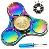 Colorful Rainbow Fidget Spinner Toy, Spinner 4-6 Minute Quiet Smooth No Jitter EDC Titanium AlloyHand Hand Fidget by BESTLONG.