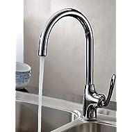 AI LI WEI Bathroom Furniture - Contemporary Chrome Finish Centerset Kitchen Faucet