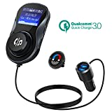 Bluetooth FM Transmitter, CHGeek Quick Charge 3.0+5V/1A Dual USB Car Charger Radio Transmitter