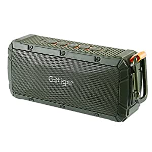 GBtiger Portable Wireless Bluetooth Speakers, IPX6 Waterproof Hifi Speaker with 10W Enhanced Bass, Dual Channel Stereo, Auto Shutdown Mode for Outddor, Indoor, Travelling(Green)