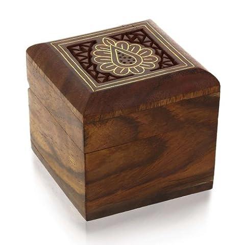 Bagues orteil boîte de boutons de manchettes de boucles d'oreilles anneaux en bois pour petits bijoux cadeaux