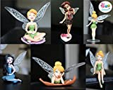 #6: iDream Tinker Bell Fairy Princess Doll Action Figures Toy Gift Set for Kids (Set of 6pcs)