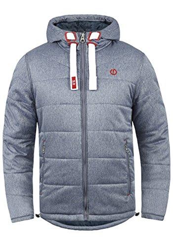 !Solid Bendix Herren Steppjacke Übergangsjacke Jacke mit Kapuze, Größe:XL, Farbe:Insignia Blue Melange (8991) -