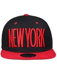 Original Snapback (one size, New York City Schwarz / Rot) + Original MY CHICOS Sticker