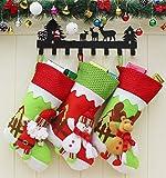 DAMENGXIANG Weihnachtsstrumpf Geschenke Tasche Süßigkeiten Tasche Rentier Weihnachtsmann Schneemann Weihnachtsbaum New Year Dekorationen (3 Teile/Satz)