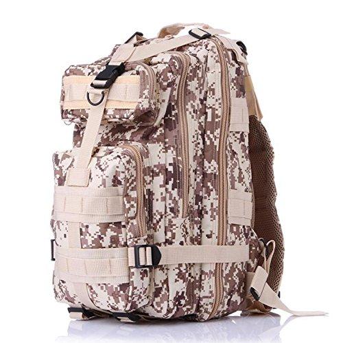 Homdsim 25l-30l Army molle 3Day Pack 3P assalto tattico militare campeggio zaino per uomo donna borsone da viaggio borsa da palestra, Desert Camouflage Desert Camouflage