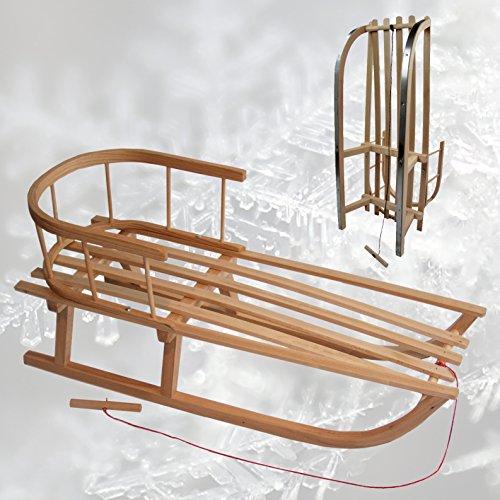 rawstyle slitta in legno con schienale + corda-Schienale-Bambini-Slitta Slitta In Legno Per Bambini slitta NUOVO