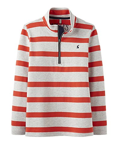 Joules Junior Boys Red Stripe Dale Sweatshirt