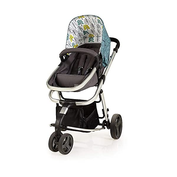 Cosatto Giggle Mix pram and Pushchair in Fjord with car seat Base & raincover Cosatto Includes: Chassis,Seat unit, Hold Car seat,Isofix base,Car seat adaptors,Raincover, Apron and 4 Year guarantee(UK and Ireland only) Suitable from birth up to 15kg. One unit transforms from newborn pram mode into pushchair mode. Space saving. No need to buy separate carrycot.. Colour packs available so you can change the look to suit your mood, family and adventures. Includes hood, pram apron and padded pushchair apron. 7