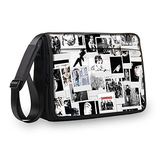 MySleeveDesign Messenger Bag Laptoptasche Notebooktasche mit Tragegurt - Tasche für Laptop & Notebook der Größen 13,3 Zoll / 14 Zoll / 15,6 Zoll / 17,3 Zoll - VERSCH. Designs - Photos - 15