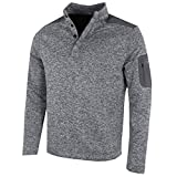 Greg Norman 2018 Bonded Wind Top Pullover Herren Windproof Golf Pullover Grey Large