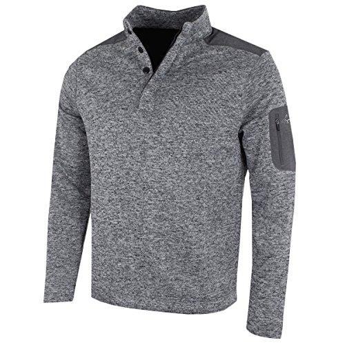 Greg Norman 2018 Bonded Wind Top Pullover Herren Windproof Golf Pullover Grey Large Fleece-pullover Golf