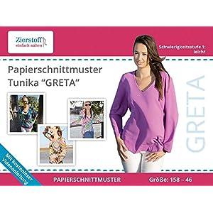 158 bis Damengr Gr digital 46 Tunika Greta Zierstoff Schnittmuster