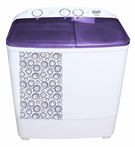 Mitashi 7 kg Semi Automatic Top Loading Washing Machine (MiSAWM70v10, White and Lavender)