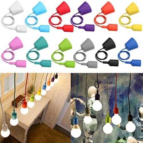 kingso-colorful-e27-le-caoutchouc-de-silicone-douille-de-lampe-lustre-bricolage-cupped-gris
