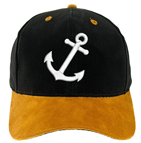 4sold Kapitänsmütze Cap Captain Anker Ancient Mariner, Captain Cabin Boy Crew First Mate Yachting Baseballmütze Inschrift Schriftzug Weiß Army Military Baseballmütze Security...