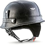 MOTO · D33 Leather Black · Jet-Helm Braincap Bobber Halbschalen