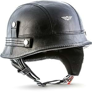 moto helmets d33 braincap leather wehrmacht steel half. Black Bedroom Furniture Sets. Home Design Ideas