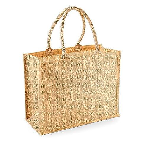 Westford (Moulin à Shimmer Jute Sac de shopping Doré Shimmer détail fil Longueur du manche 55cm