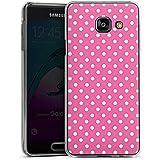 Samsung Galaxy A3 (2016) Housse Étui Protection Coque Points Rose vif Polka