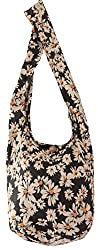 Beuteltasche aus Reiner Baumwolle, mehr als 40 Verschiedene, wiederverwertbare Einkaufstasche für einen umweltbewussten Lebenstil, Umhängetaschen (Gänseblümchenmuster)