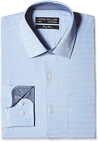 John Miller Men' s Formal Shirt (8907372328140_1OS88362_40_Light Blue)