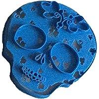 Cuticuter Calavera Mexicana 3 Cortador de Galletas, Azul, 8x7x1.5 cm
