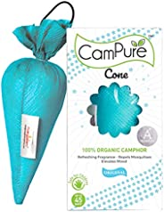 Mangalam CamPure Camphor Cone (Original) - Room, Car and Air Freshener & Mosquito Repellent (Pack O