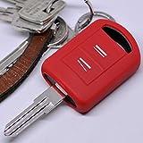 Soft Case Schutz Hülle Auto Schlüssel Opel Combo C Corsa C Meriva A Tigra TwinTop/Farbe: Rot