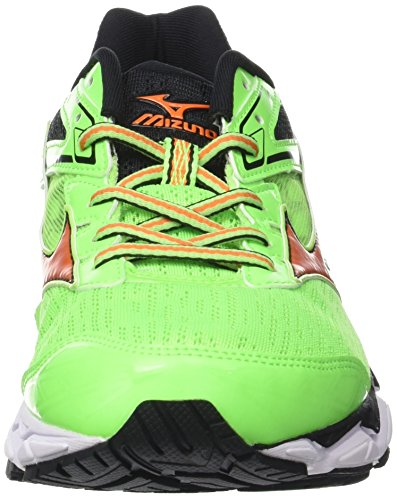 Mizuno Wave Ultima 9, Scarpe da Running Uomo Verde (Green Gecko/Vibrant Orange/Black)