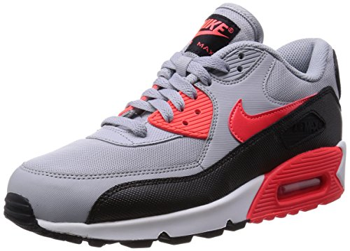 Nike Air Max 90 Essential Damen Laufschuhe Grau (Wolf Grey/Infrared/Black/White)