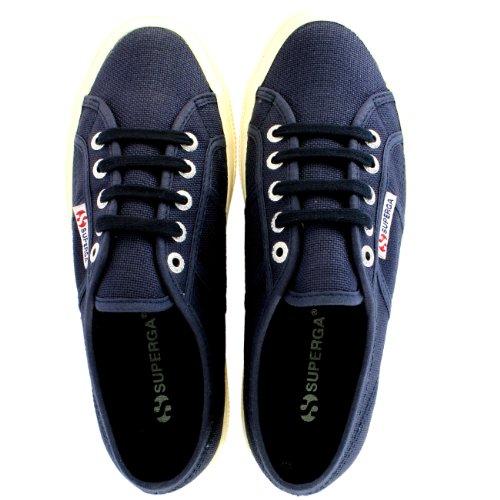 Donna Superga Classic Cotu canvas Low top retro scarpe da ginnastica-bianco-3.5 Navy