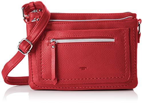 TOM TAILOR Umhängetasche Damen, Becky, Rot, 23x17x3 cm, TOM TAILOR Taschen für Damen