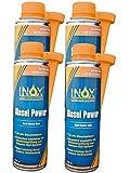 INOX Diesel Power Additiv, 4 x 250ml - Kraftstoffsystemzusatz für alle Dieselmotoren