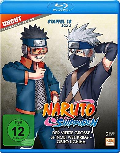 Naruto Shippuden - Der vierte große Shinobi Weltkrieg -  Obito Uchiha/Uncut  - Staffel 18.2: Folgen 603-613 [Blu-ray]