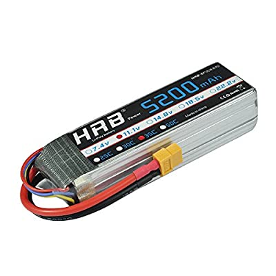 HRB POWER HRB Lipo Battery 5200mAh 35C 3S 11.1V RC Cars Battery Pack with XT90 Plug for RC Racing Hobby Drone Airplane Helicopter Car Truck Boat Traxxas Slash DJI