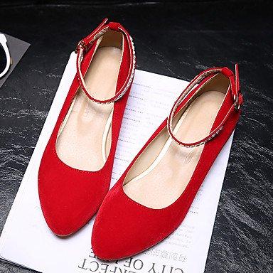 LvYuan Da donna-Sandali-Matrimonio Tempo libero Ufficio e lavoro Casual Formale-Altro Comoda Suole leggere-Basso-Finta pelle-Nero Blu Rosso Red