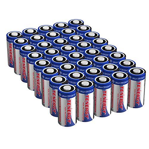 Tenergy Lithium CR123A Batterien 1500mAh 3V für Digitalkameras, Alarmanlagen, Rauchmelder, Camcorder, 40 Stück - Nicht wiederaufladbar (Streamlight-batterie-pack)