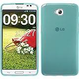PhoneNatic Case für LG G Pro Lite Hülle Silikon türkis transparent + 2 Schutzfolien