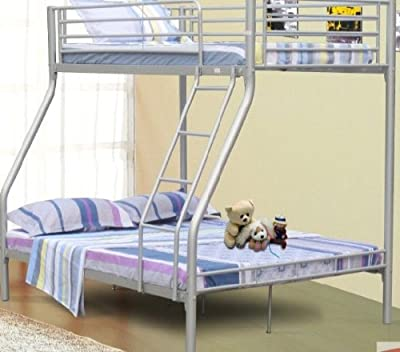 Triple Sleeper Bunk Bed - Double Bed Base and Single on Top - cheap UK Bunkbed shop.
