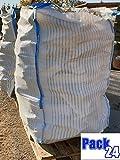 5 Stück BigBag für Brennholz Kaminholz Holzbag Woodbag Brennholzsack Netz Big Bag 100 * 100 * 120cm