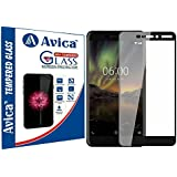AVICA® Edge To Edge Full Glue Black 5D Curved Full Front Body Covered Tempered Glass Screen Protector For Nokia 6 2018