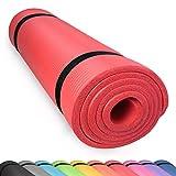 diMio Yogamatte Gymnastikmatte Rutschfest mit Tragegurt, phlatatfrei + SGS-geprüft, 185x90x1.5cm Rot