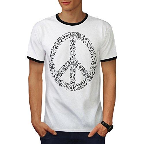 Frieden Schild Musik Rasta Herren L Ringer T-shirt | Wellcoda (Krebs-ringer)