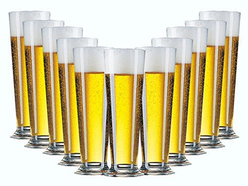 Bierglas Gläser-Set Serie Linea 6 teilig | Füllmenge 390 ml | Altbiertulpe ideal für Pilsener Biergläser | Perfekter Biergenuss mit Freunden