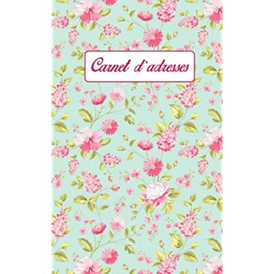Carnet d'adresses: petit carnet d'adresses floral